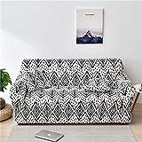 WXQY Funda de sofá con patrón geométrico, Funda de sofá elástica para Sala de Estar, Todo Incluido, Antideslizante, Funda de sofá de Esquina en Forma de L, A11, 2 plazas