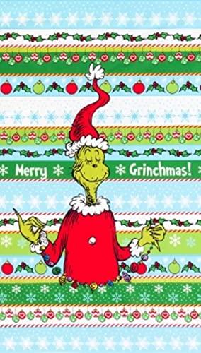 "Robert Kaufman How The Grinch Stole Christmas ADE 20274 223 Grinch 24"" Panel"