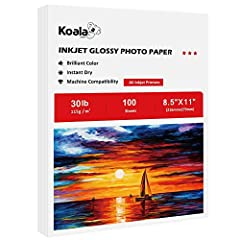 Fast Dry, Resists Smudging and Scratches must use DYE INK Glossy Smooth Finish, Single -side Print 8.5x11 inch Sheet Size, 100 Sheets Thinner 115gsm Paper Perfect for DIY custom chip bags,flyers, printing detailed graphics, and sharp text Newsletters...