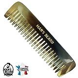 man's beard - peigne barbe en corne veritable - fabrication franaise - fabriqu la main