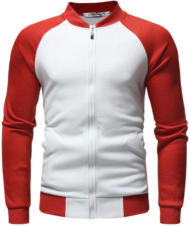 Men Jackets,Dartphew Men's Casual Patchwork Stand Jacket Top 2018Blouse
