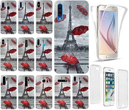 CoverHeld Hülle für Apple iPhone XS Handyhülle Design 1107 Eifelturm Paris Frankreich Premium Hülle Silikon Fullbody 360 Grad R&um SchutzHülle Softcase HandyCover Hülle für Apple iPhone XS