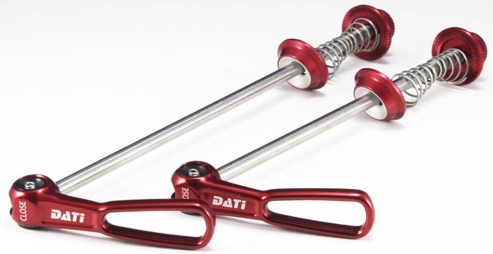 Red KREX ROAD Bike Titanium Axis Quick Release Skewers M5*112//148 Skewer Set