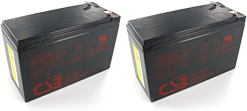 Pair of CSB GP1272 F2 12 Volt 7.2 Ah OEM Sealed Lead Acid Battery