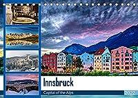 Innsbruck - Capital of the AlpsAT-Version (Tischkalender 2022 DIN A5 quer): Innsbruck - Hauptstadt der Alpen (Monatskalender, 14 Seiten )