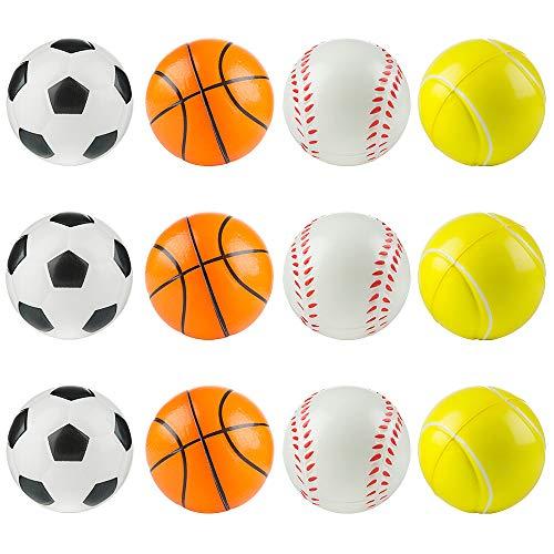 MOOKLIN ROAM 12pcs Pelota Anti Estrés Bolas Divertidas Squeeze, fortalece Manos y Dedos, Squishy Ball Alivia estrés, Juguetes Antiestrés para Niños y Adulto, Fiestas Cumpleaños Juegos