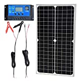 TP-solar Solar Panel Kit 30W 12V Monocrystalline Battery Charger Maintainer with 10A Charge Controller + Extension Cable...