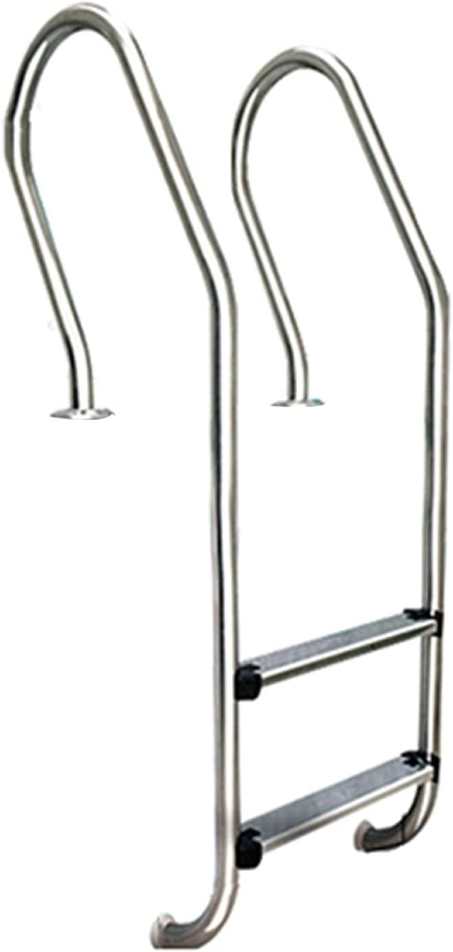 MQKQ Swimming Pool Ladder Stainless Non-Slip Steel San Francisco Mall Pedal low-pricing 2-Step
