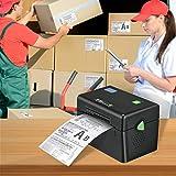 Vogvigo Impresora de Etiquetas, Impresora térmica (Interfaz USB) Que Puede Ajustar automáticamente la posición del Papel y devolver el Papel, para etiquetasde envío 4x6 Compatible con PC/Mac(Negro)