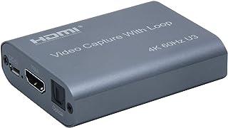 三生テック HDMI キャプチャーユニット ビデオキャプチャー ゲームキャプチャー 録画 ライブ配信 テレワーク 入力4K@60Hz 出力1080P@60 USB3.0 UVC(USB Video Class)/UAC(USB Audio Cl...