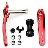 Fomtor - Ensemble de manivelles rouges 170 mm pour vélo - 104BCD - Pour vélos de...