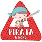 Nen pirata a Bord Català – bebé a bordo triángulo para coche - Catalán