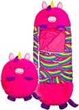 Ysimee 2 in 1 Sacco a Pelo Cuscino per Bambini, Happy Play Pillow And Sleeping Bag, Pieghevole Cuscino da Gioco Morbido Sacco a Pelo Animale, 79 x 167 cm