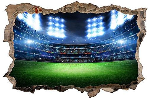 Stadion Fußball Spielfeld Wandtattoo Wandsticker Wandaufkleber D1219 Größe 70 cm x 110 cm