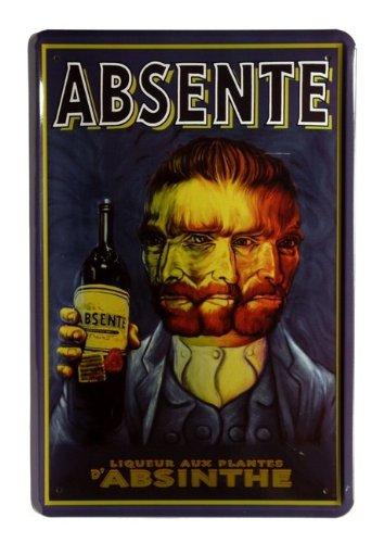 Absente absinthe 20–plaque 30 x 55 cm
