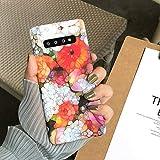 SJKTAO Caja del teléfono móvil Funda De Flores De Arte Abstracto para Samsung Galaxy S10 S8 S9 Plus Fundas De Pc Duras Florales Coloridas Retro para Samsung Note 8 9