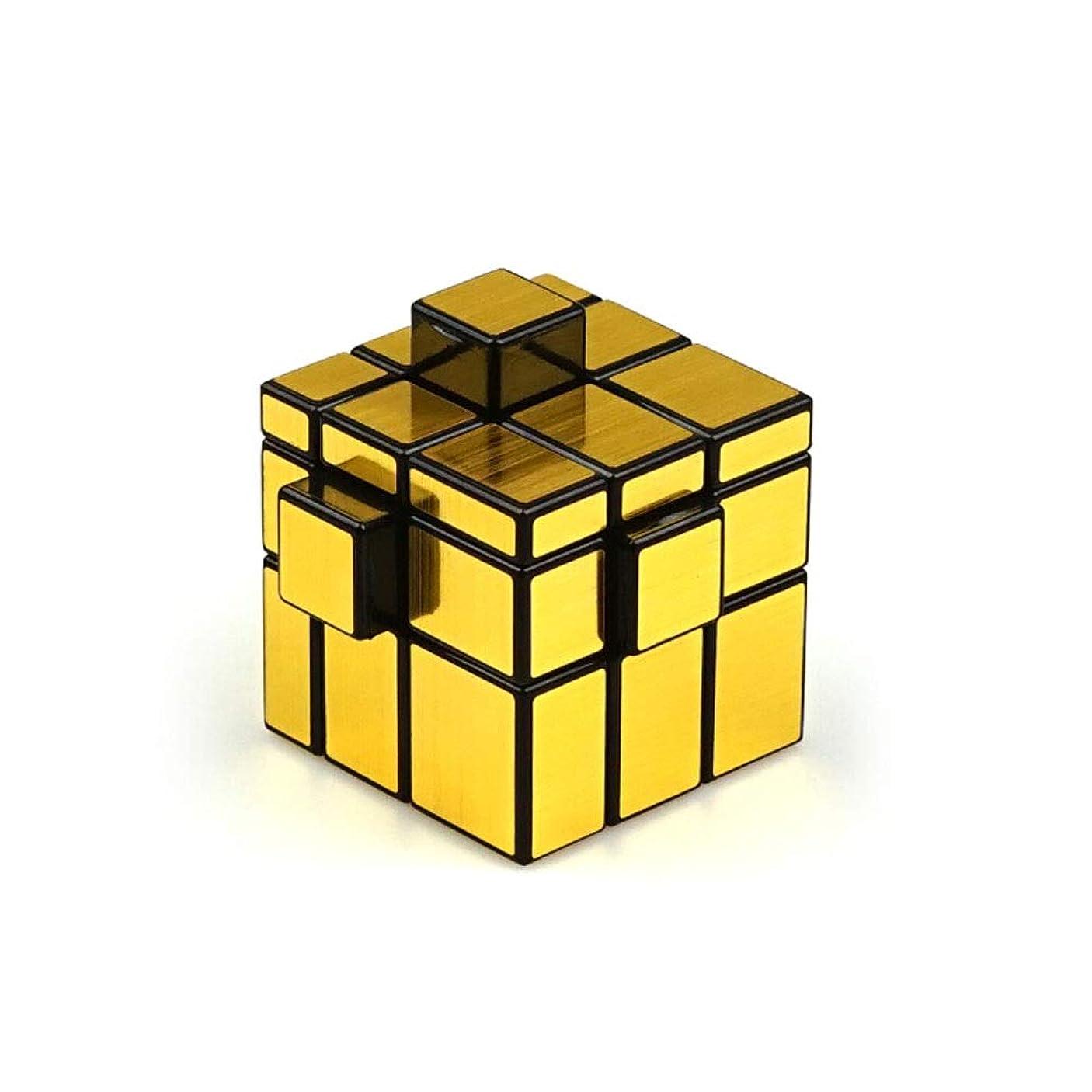 神買い物に行く極めて重要なルービックキューブ、創造的な滑らかな立方体、品質の高いデザイン、ギフトとして使用可能(ゴールド/シルバー) (Color : Gold)