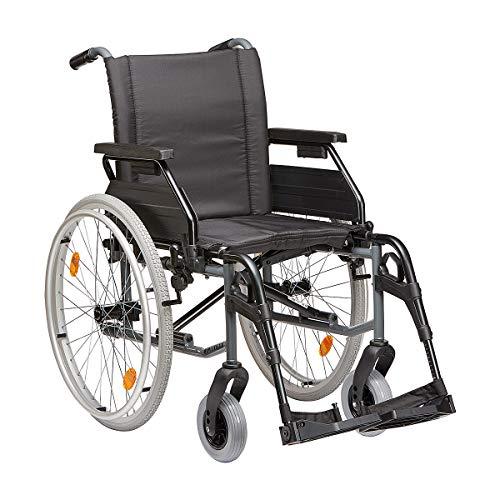 Leichtgewicht-Faltrollstuhl Dietz Tomtar MR-S mit Trommelbremse Grau Sitzbreite 51 cm
