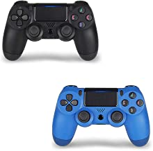 Wireless Controller for PS4,Remote, Joystick with DS4 for Playstation 4 with Charging Cable, Black and Blue Remote, New Model