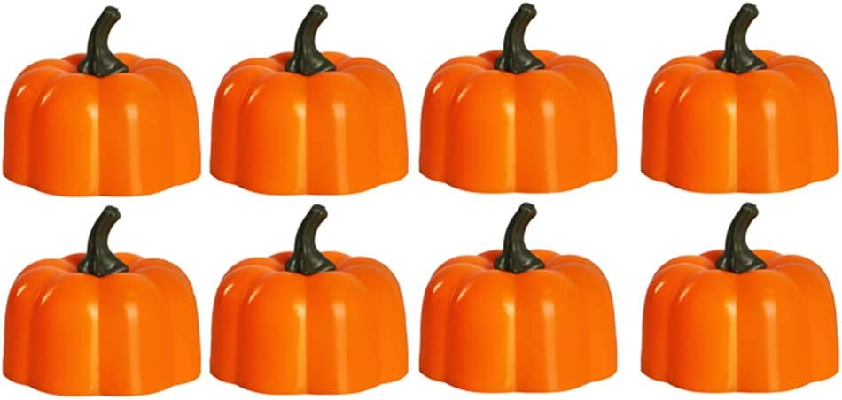 FRCOLOR Mesa Mall Sale special price 10Pcs Halloween Pumpkin Lantern LED Light Electronic Can
