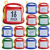 Prextex 18 Pack Mini Doodle Pads Toy Tablets Drawing Pads Doodle Pads for Kids Bulk Toys Board Set – Magnetic Drawing Pad Erasable Writing Pad for Classroom Rewards Patry Favors and Party Supplies