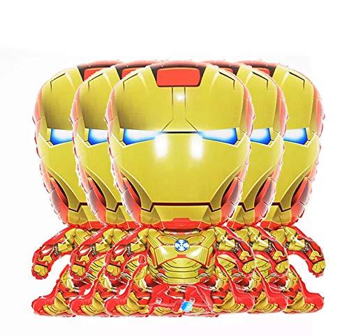 6 Pcs Superhero Balloons Avengers Foil Balloons For Birthday Party Supplies Superhero Theme Party Favors (Iron Man)