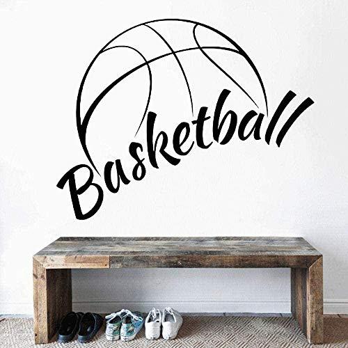 Vinilo decorativo para pared decoración de la pared hogar y cancha de baloncesto decoración colgante juego deportivo 42X28Cm