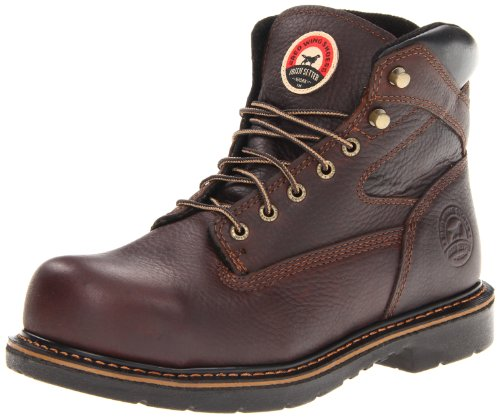 "Irish Setter Men's 83624 6"" Steel Toe Work Boot,Brown,8.5 D US"