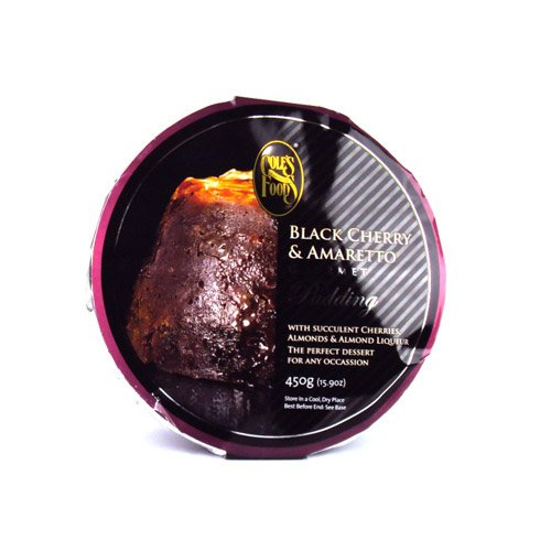 Cole's Black Cherry & Amaretto Christmas Pudding 454g