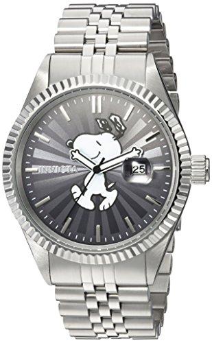 Invicta 24800 Character - Snoopy Orologio da Uomo acciaio inossidabile Quarzo quadrante grigio