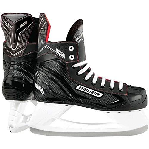 BAUER Herren Eishockey Schlittschuhe NS Senior, schwarz/rot, 43 EU