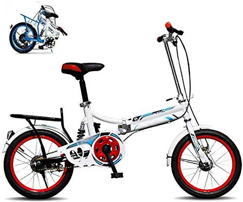Bicicleta plegable para hombres y mujeres, bicicleta plegable en 15 segundos, marco aerodinámico de 16 pulgadas, bicicleta plegable de ciudad para Urban Commuter Cruiser Bike-B_16 pulgadas