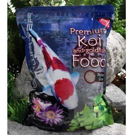 Blackwater Creek Color Koi Fish Food - 5 lbs. (Medium Pellet) with Exclusive Bonus Max Ponds...