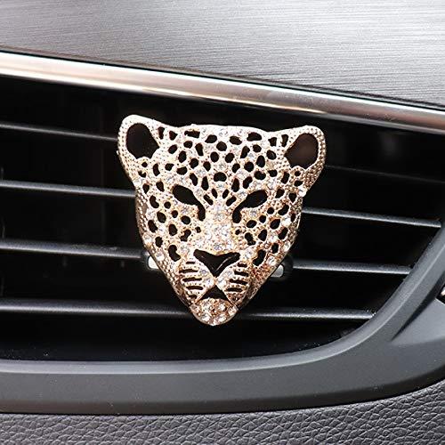 Car Decoration Car in Auto Interior Decor Car Diffuser Vent Clip Leopard Solid Car Accessories Auto (Color Name : Gold)