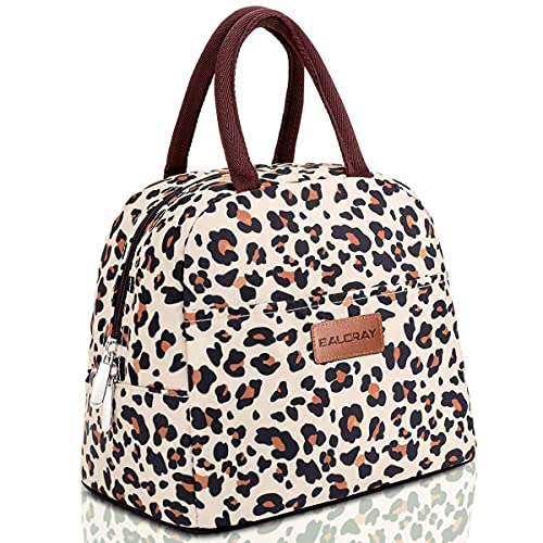 BALORAY Lunch Bag for Women Men Insulated Lunch Box for Adult Reusable Lunch Tote Bag for Work, Picnic, School or Travel (Leopard)