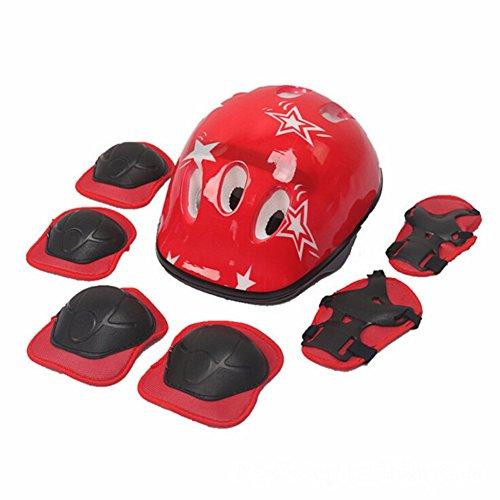 Leezo Kinder Schutzausrüstung Set Knieschützer Ellbogenschützer Handgelenkschützer für Skateboarding Inline Skating Roller Blading Sportschutzausrüstung