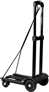 iimono117 折りたたみ 台車 キャリーカート 耐荷重 75kg 固定ロープ 付き / 軽量 静音 ハンドキャリー 荷物 運搬 釣り 運動会 キャンプ