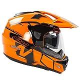 Nitro MX670 Podium Adventure - Casco da moto, colore: Nero/Arancione