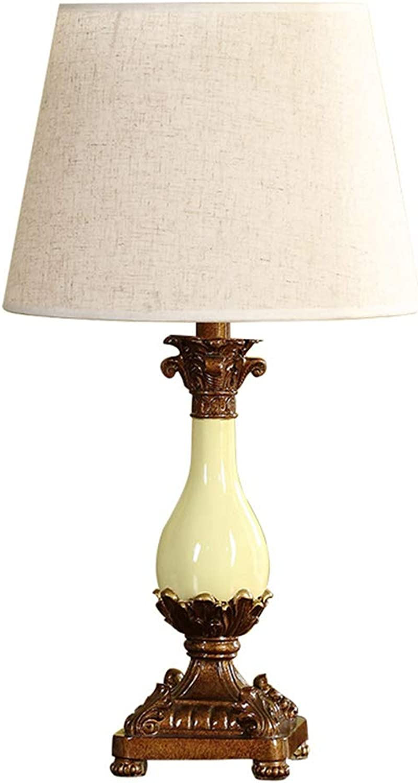 WYDM Europäischen Stil Tischlampe Moderne minimalistische dekorative Schlafzimmer Nachttischlampe 30x50cm E27 B07GV26WCJ | Qualitätsprodukte