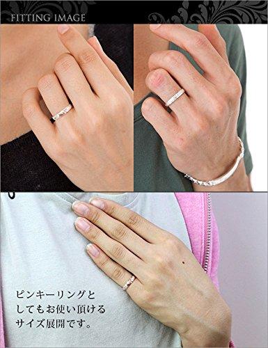 ハワイアンジュエリーペアリング刻印無料シルバー925指輪2個セット【シルバー:29号】【ピンク:11号】SR102-SR103P