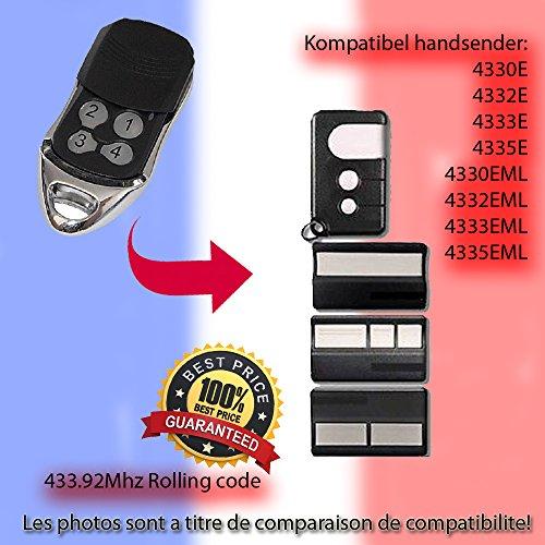 BENINCA to Clone /émetteur pour porte de garage Automation Go 2/WK Go 4/WK Compatible t/él/écommande Beninca TO qualit/é sup/érieure KeyFob fr/équence de 433,92/MHz Fixed Code Clone.