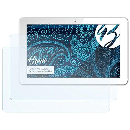 Bruni Schutzfolie kompatibel mit Odys Ieos 10 Quad Pro/Ieos Next 10 Folie, glasklare Bildschirmschutzfolie (2X)