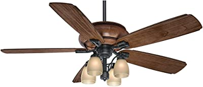 52 Quot Casa Shabby Chic Ceiling Fan Antique Floral Scroll Rubbed White For Living Room Kitchen