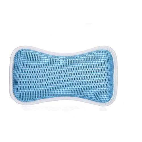 Bath Pillow Bath Pillow Spa Pillow Anti Bacterial Cushion, 2 Strong Suction Cups, Home Spa Non Slip Support For Bathtub, Hot Tub Spa Pillow for Bathtub (Color : White, Size : 28 x 18 x 9cm)