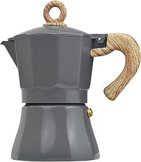 Cowslip Aluminium kaffebryggare värmebeständig mokkabryggare med handtag, lämplig för induktion kaffebryggare, 3/6 koppar,...