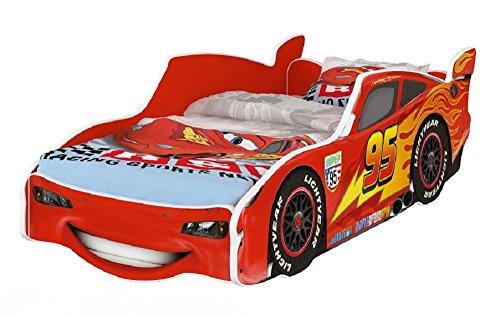 hogartrend Letto, Auto per Bambini Disney Cars Interno Rosso