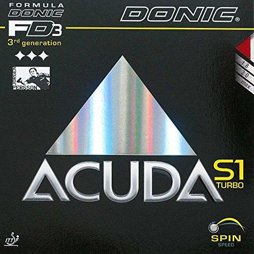 Tenis de mesa goma Donic Acuda S1Turbo, 2.00mm), color rojo
