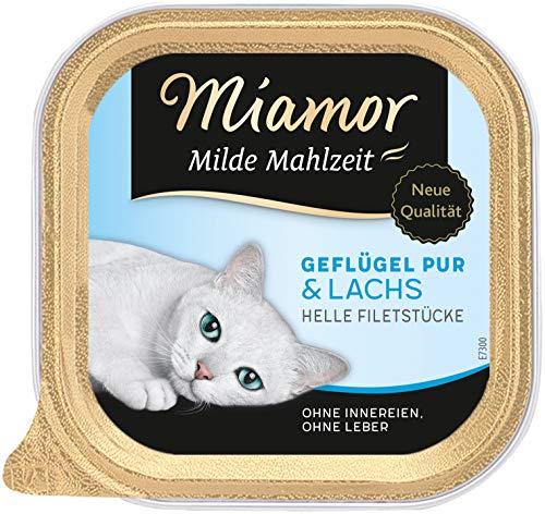 Miamor Milde Mahlzeit Geflügel Pur & Lachs 16x100g
