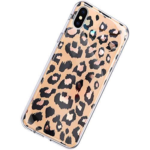 Herbests Kompatibel mit iPhone XS/iPhone X Hülle Marmor Muster Glänzend Glitzer Bling Weich Silikon Hülle Kratzfest Schutzhülle Tasche Crystal Case Durchsichtig Dünn Handyhülle,Marmor Gold