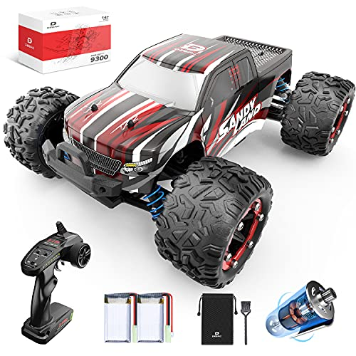 DEERC RC Cars 9300 High Speed Remote Control Car for Kids Adults 1:18 Scale 40 KM/H 4WD Off Road Monster Trucks,2.4GHz All Terrain Toy Trucks with 2 Rechargeable Battery,40+ Min Play Gift for Boy Girl